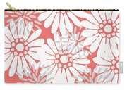 Summer Flowers Red Carry-all Pouch