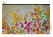Summer Fragrance Abstract Painting Carry-all Pouch by Julia Apostolova
