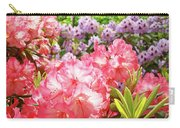 Summer Garden Pink Purple Rhododendrons Baslee Carry-all Pouch