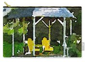Summer Gazebo With Yellow Chairs Carry-all Pouch