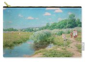 Summer Landscape With Children Carry-all Pouch