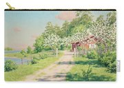 Summer Landscape With House Carry-all Pouch