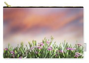 Summer Meadow Flowers In Grass At Sunset. Carry-all Pouch