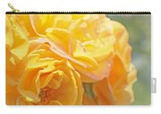 Golden Yellow Roses In The Garden Carry-all Pouch