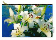 Summer Pond French Lilies Carry-all Pouch