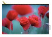 Summer Poppy Meadow 3 Carry-all Pouch