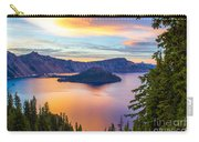 Sunset At Crater Lake, Oregon Carry-all Pouch