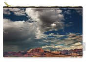 Summer Thunderstorm Clouds Form Over West Temple Zion National Park Utah Carry-all Pouch