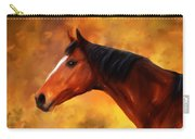 Summers End Quarter Horse Painting Carry-all Pouch