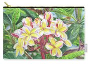 Summertime Kauai Island Plumeria Watercolor By Jenny Floravita Carry-all Pouch