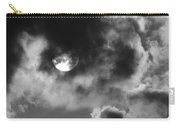 Sun And Clouds - Grayscale Carry-all Pouch