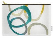 Sun And Sky- Abstract Art Carry-all Pouch by Linda Woods