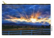 Sun Beams In The Sky At Sunset Carry-all Pouch