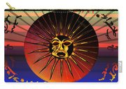 Sun Face Stylized Carry-all Pouch by Robert  G Kernodle