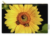 Sunflower And Bees Carry-all Pouch