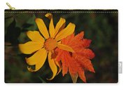 Sun Flower And Leaf Carry-all Pouch