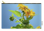 Sun Flower Artwork Sunflower 5 Giclee Art Prints Baslee Troutman Carry-all Pouch