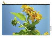 Sun Flower Artwork Sunflower 5 Giclee Art Prints Baslee Troutman Carry-all Pouch