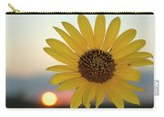 Sun Flower At Sunset Carry-all Pouch