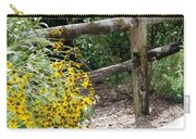 Sun Flower Fence Carry-all Pouch