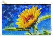 Sun Flower - Id 16235-142817-0801 Carry-all Pouch