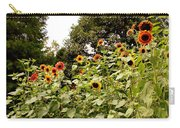 Sun Flowers Of Chanticleer Carry-all Pouch