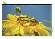 Sun Flowers Summer Sunny Day 8 Blue Skies Giclee Art Prints Baslee Troutman Carry-all Pouch
