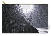 Sun Over Barbed Wire Carry-all Pouch