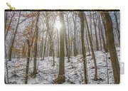 Sun Peaking Through The Trees - Fairmount Park Carry-all Pouch