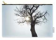 Sun Rays And Bare Lonely Tree Carry-all Pouch