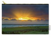 Sun Rays At Long Beach Washington During Sunset Carry-all Pouch