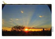 Sun Rays At Sunset With Tree And Saguaro Carry-all Pouch
