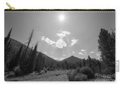 Sun Rays In Yellowstone Bw Carry-all Pouch