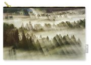 Sun Rays Over Foggy Oregon Forest Carry-all Pouch