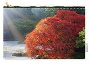 Sun Rays Over Old Japanese Maple Tree Carry-all Pouch