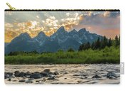 Sun Rays Over The Grand Tetons Carry-all Pouch