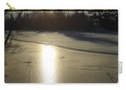Sun Reflecting Off River Ice Carry-all Pouch