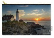 Sun Rising At Portland Head Light Carry-all Pouch