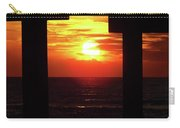 Sun Setting At The Pier Carry-all Pouch