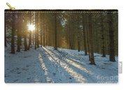Sun Setting On Winter Woods Carry-all Pouch