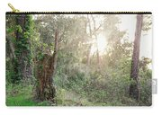 Sun Shining Through Trees In A Mysterious Forest Carry-all Pouch