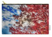 Sun Sky Clouds And A Red Maple Carry-all Pouch