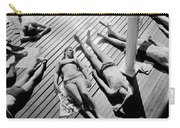 Sun Tanning At The Deligny Swimming Pool, Paris, June, 1963 Carry-all Pouch