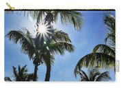 Sun Through Smathers Beach Palms Carry-all Pouch