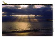 Sunbeams Radiating Through Clouds Before Sunset Carry-all Pouch