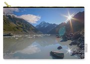 Sunburst Reflection At Aoraki Mount Cook National Park Carry-all Pouch