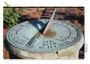 Sundial At Benjamin Harrison Home, Indianapolis, Indiana Carry-all Pouch