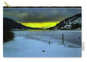 Sundown On Lake Shore Carry-all Pouch