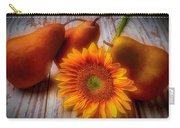 Sunflower And Pears Carry-all Pouch