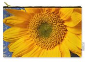 Sunflower And Skeleton Key Carry-all Pouch by Garry Gay